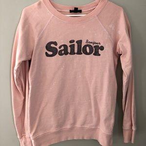 JCrew distressed sailor sweatshirt